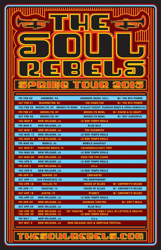 Soul Rebels Spring 15 New Poster